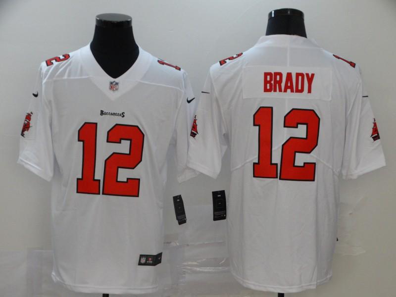 Buccaneers 12 Tom Brady White Vapor Untouchable Limited Jersey