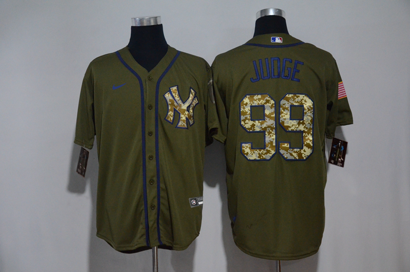 Yankees 99 Aaron Judge Olive 2020 Nike Cool Base Jersey