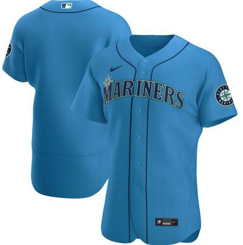 Mariners Blank Light Blue 2020 Nike Cool Base Jersey
