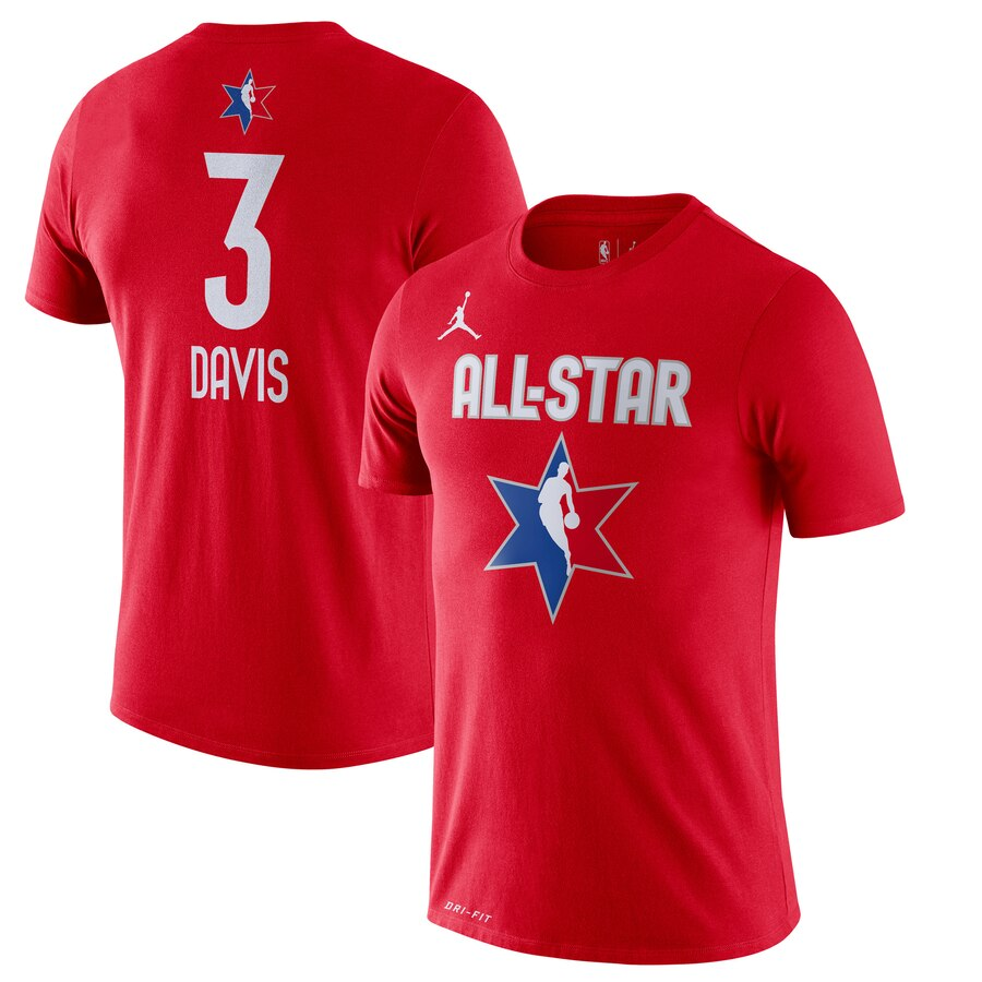 Anthony Davis Jordan Brand 2020 NBA All-Star Game Name & Number Player T-Shirt Red