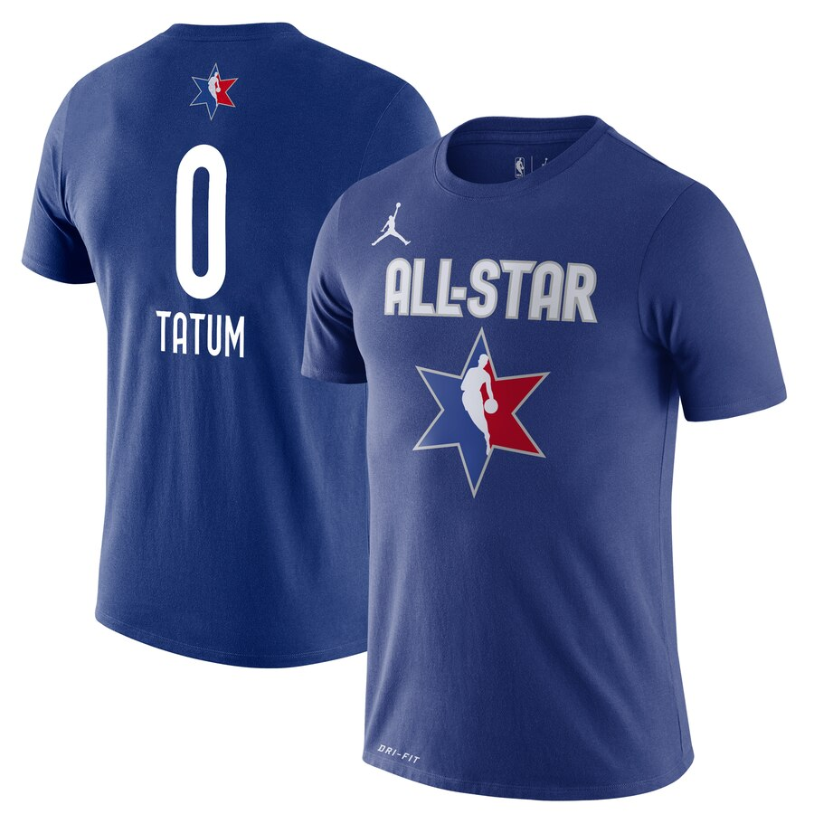 Jayson Tatum Jordan Brand 2020 NBA All-Star Game Name & Number Player T-Shirt Blue