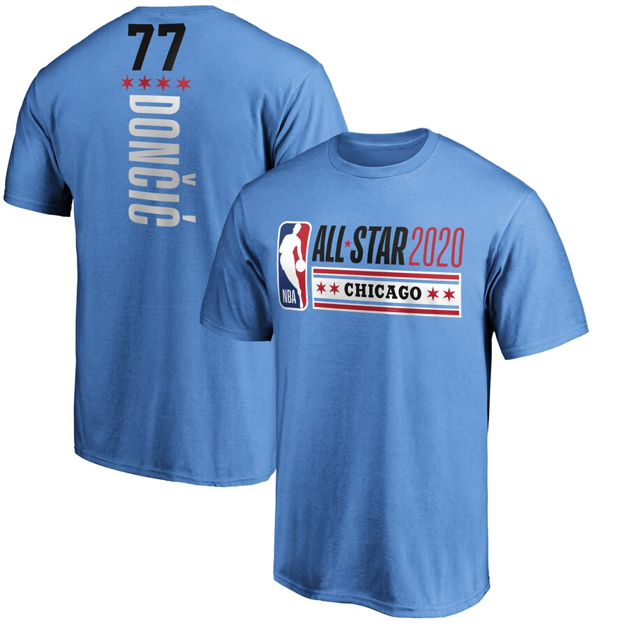 Luka Doncic Fanatics Branded Blue 2020 NBA All-Star Game Name & Number T-Shirt