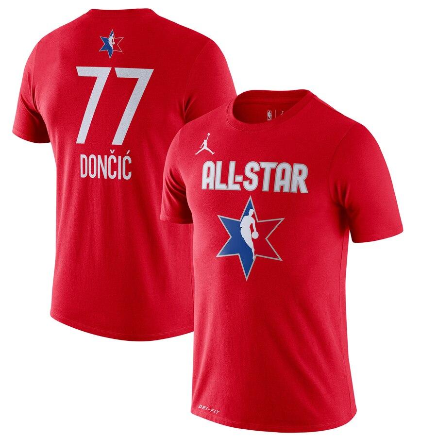 Luka Doncic Jordan Brand 2020 NBA All-Star Game Name & Number Player T-Shirt Red