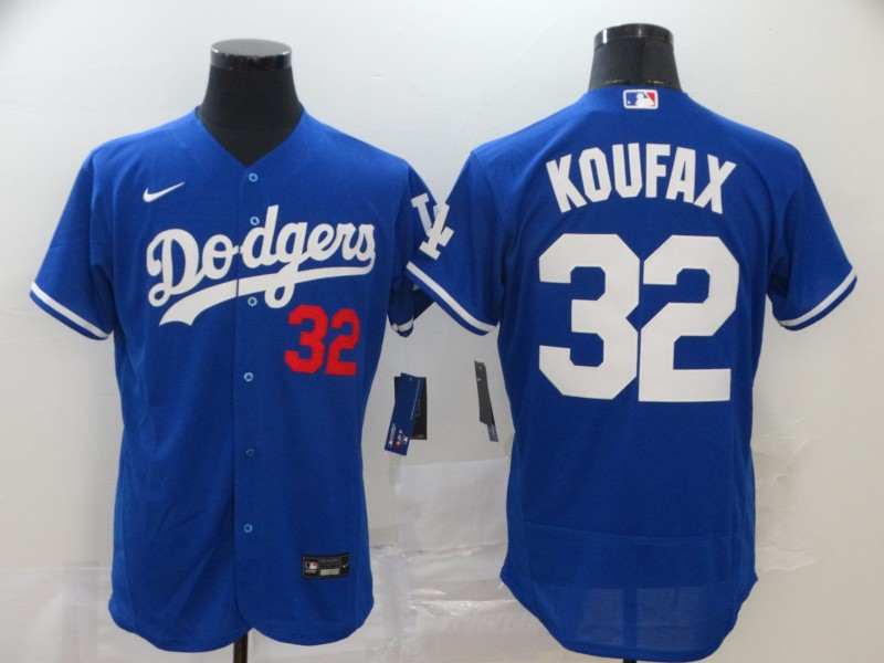 Dodgers 32 Sandy Koufax Royal 2020 Nike Flexbase Jersey