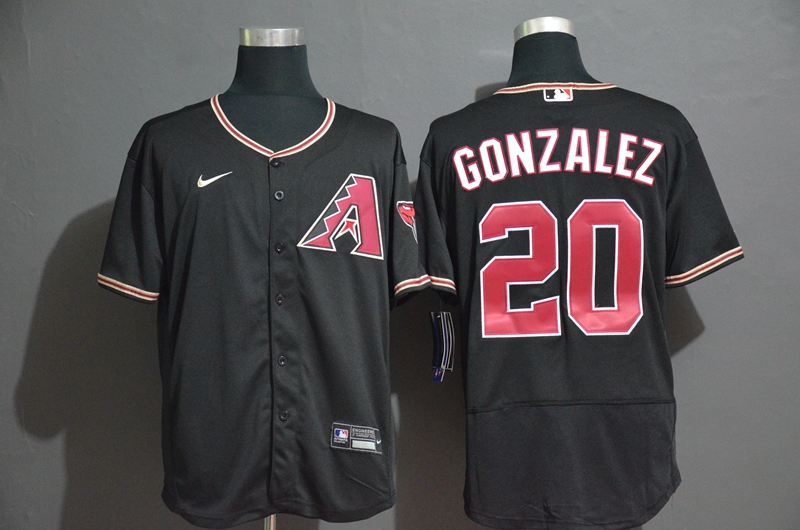 Diamondbacks 20 Luis Gonzalez Black Nike 2020 Flexbase Jersey