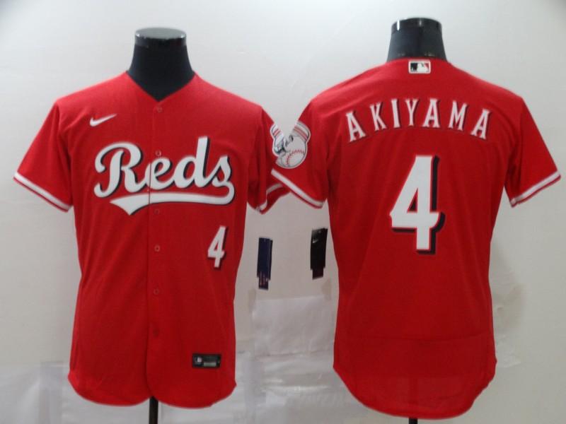 Reds 4 Shogo Akiyama Red 2020 Nike Flexbase Jersey