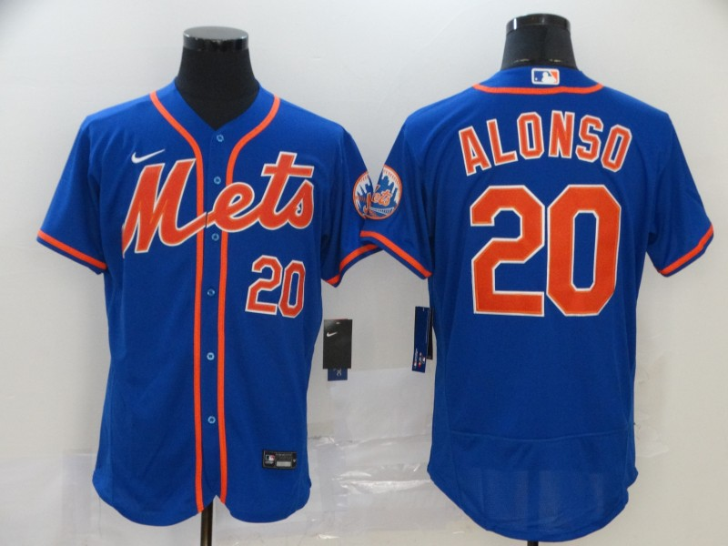 Mets 20 Pete Alonso Royal 2020 Nike Flexbase Jersey
