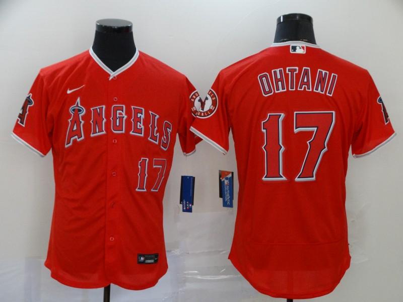 Angels 17 Shohei Ohtani Red 2020 Nike Flexbase Jersey