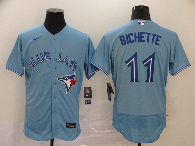 Blue Jays 11 Bo Bichette Light Blue 2020 Nike Flexbase Jersey