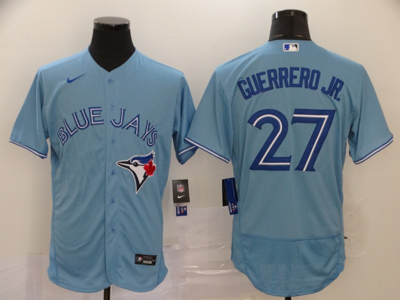 Blue Jays 27 Vladimir Guerrero Jr. Light Blue 2020 Nike Flexbase Jersey