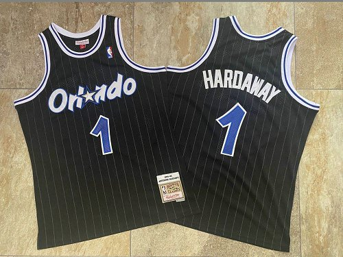 Magic 1 Anfernee Hardaway Black 1994-95 Hardwood Classics Jersey