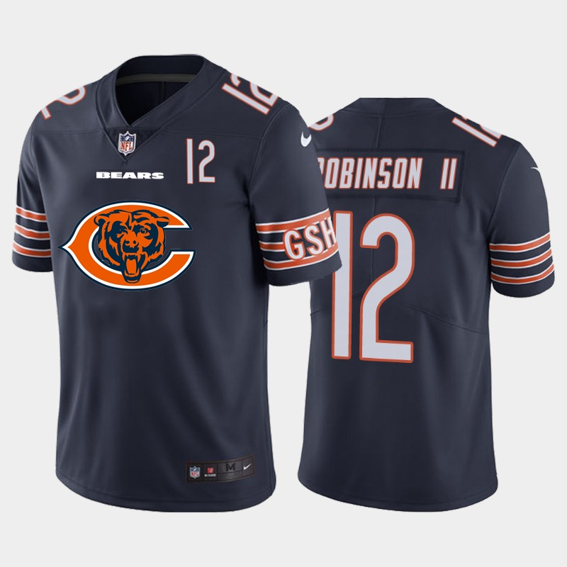 Nike Bears 12 Allen Robinson II Navy Team Big Logo Number Vapor Untouchable Limited Jersey