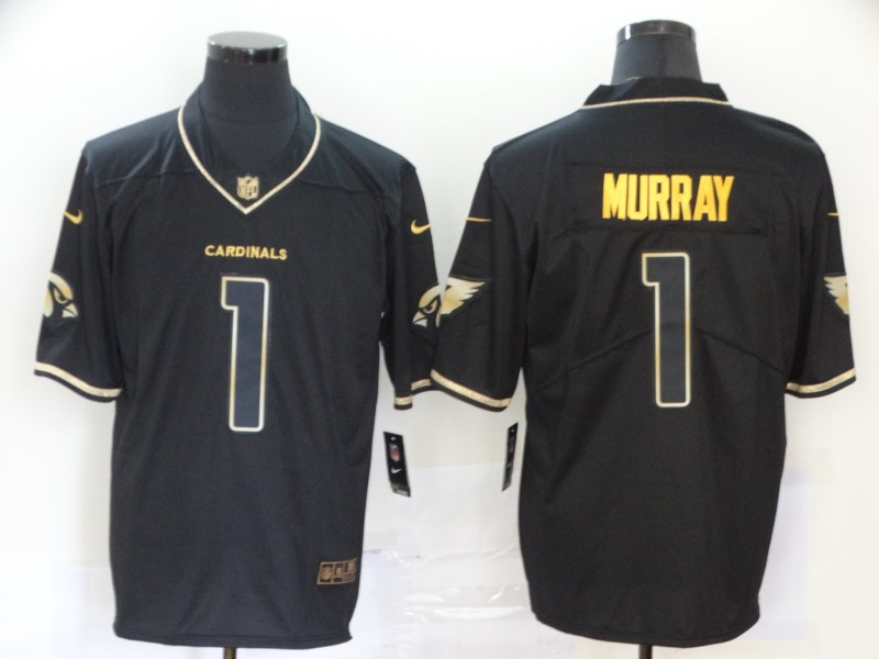 Nike Cardinals 1 Kyler Murray Black Gold Vapor Untouchable Limited Jersey