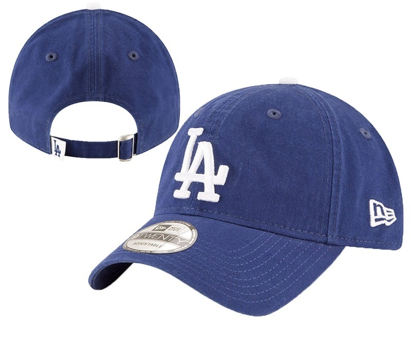 Dodgers Team Logo Blue Peaked Adjustable Hat YD