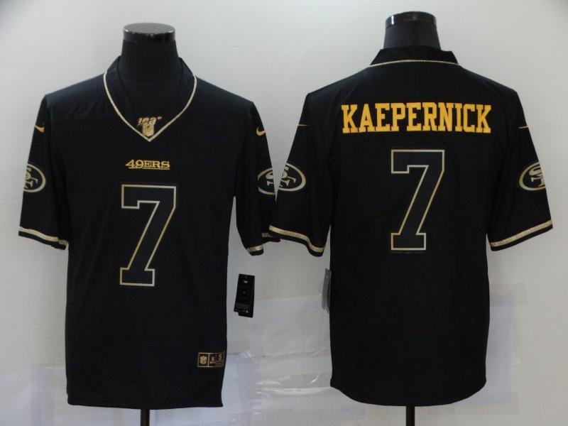 Nike 49ers 7 Colin Kaepernick Black Gold Vapor Untouchable Limited Jersey