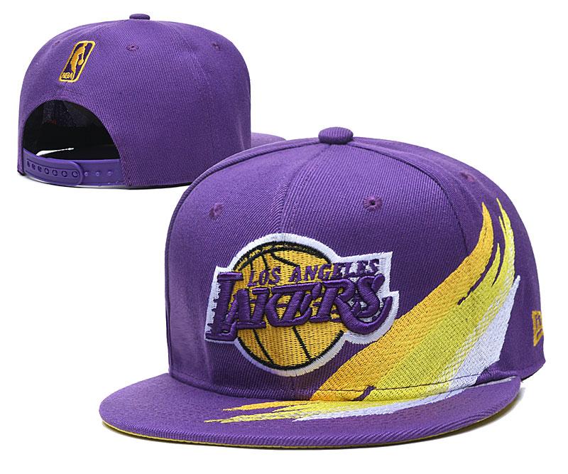 Lakers Team Logo Purple Adjustable Hat YD