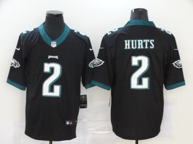Nike Eagles 2 Jalen Hurts Black 2020 NFL Draft First Round Pick Vapor Untouchable Limited Jersey