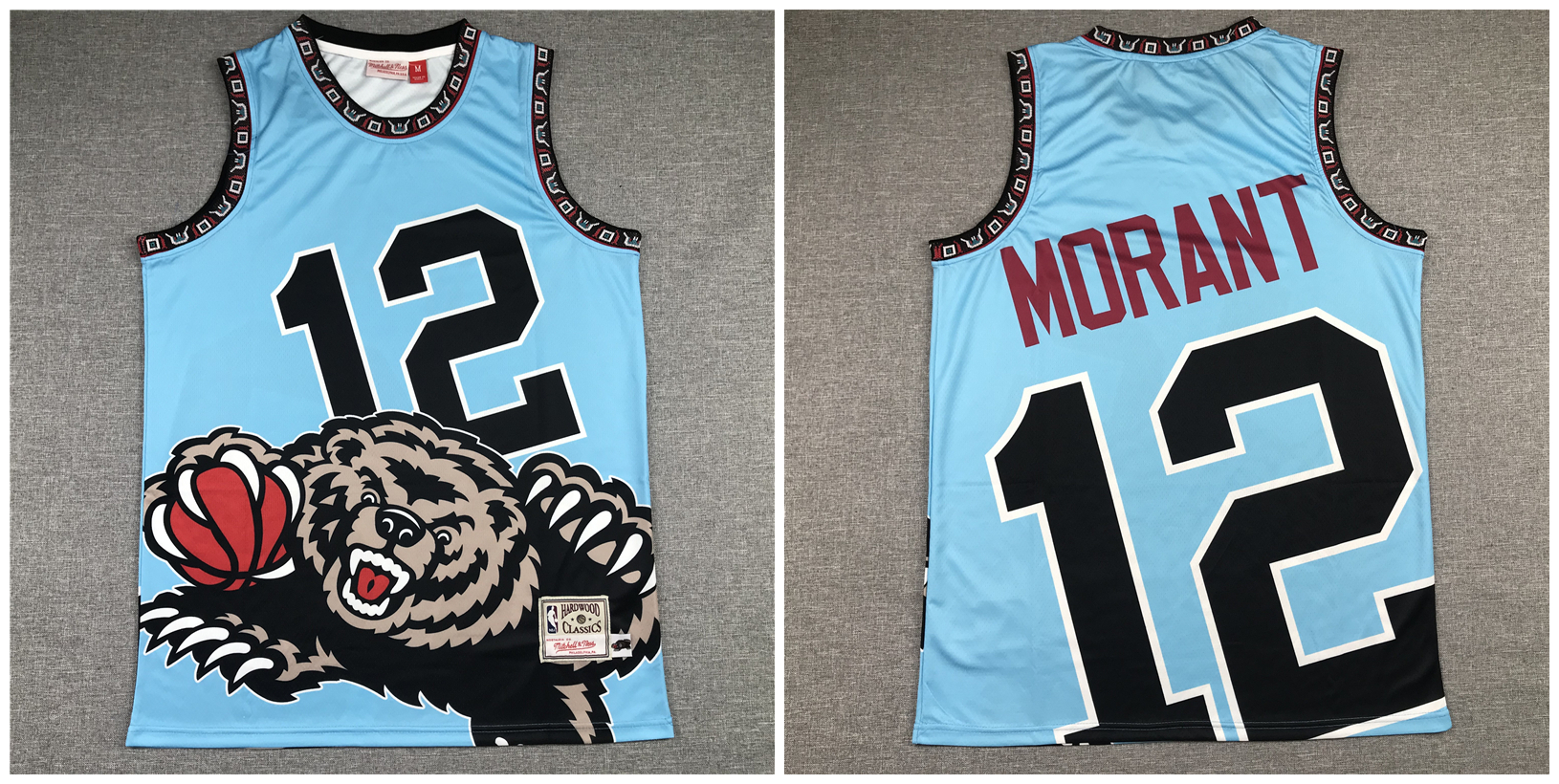Grizzlies 12 Ja Morant Blue Hardwood Classics Jersey
