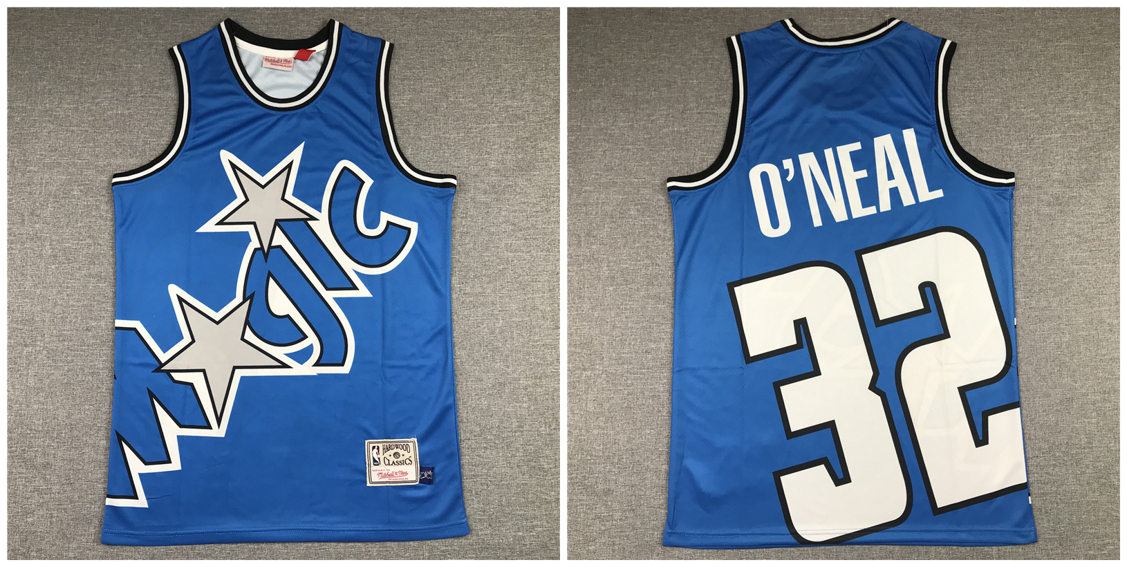 Magic 32 Shaquille O'Neal Blue Hardwood Classics Jersey