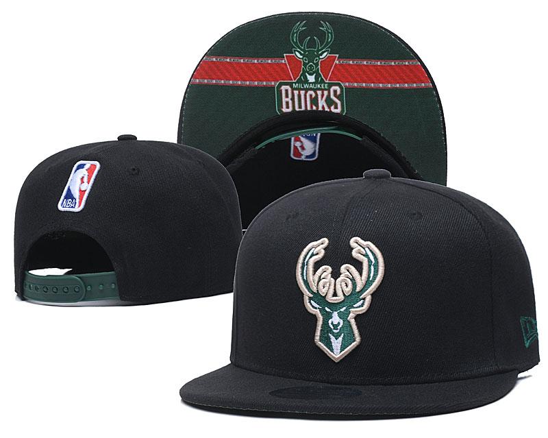 Bucks Team Logo Black Adjustable Hat GS