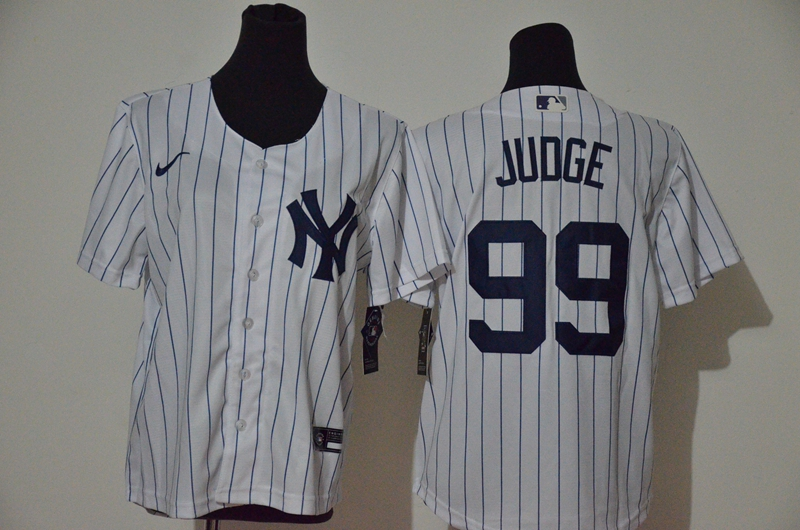 Yankees 99 Aaron Judge White Youth Nike Cool Base Jersey