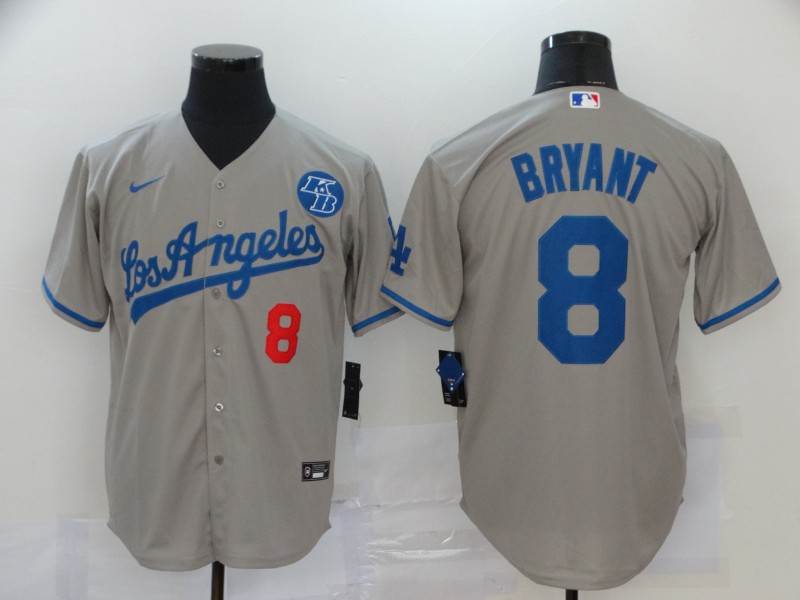 Dodgers 8 Kobe Bryant Gray 2020 Nike KB Cool Base Jersey