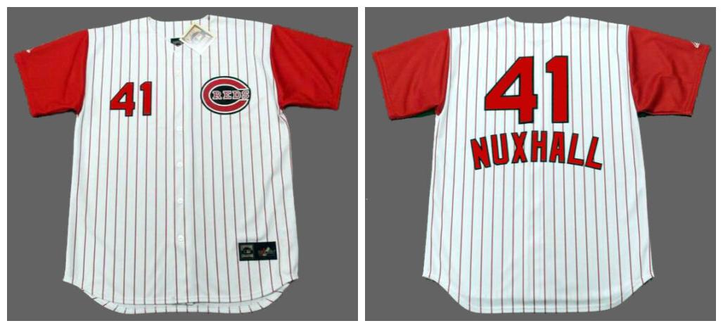 Reds 41 Joe Nuxhall White 1960 Throwback Jersey