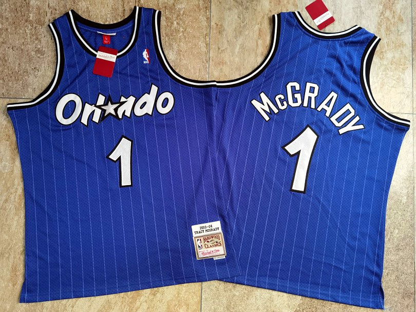 Magic 1 Tracy McGrady Blue 2003-04 Hardwood Classics Swingman Jersey
