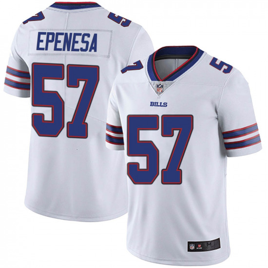 Nike Bills 57 AJ Epenesa Red 2020 NFL Draft Vapor Untouchable Limited Jersey