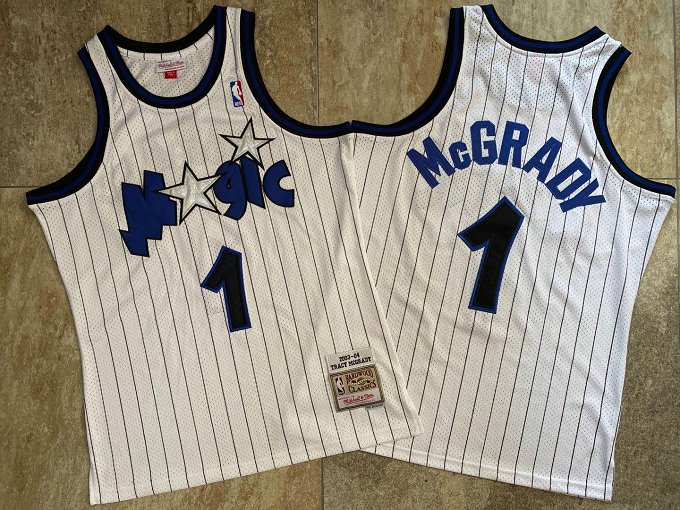 Magic 1 Tracy McGrady White 2003-04 Hardwood Classics Swingman Jersey