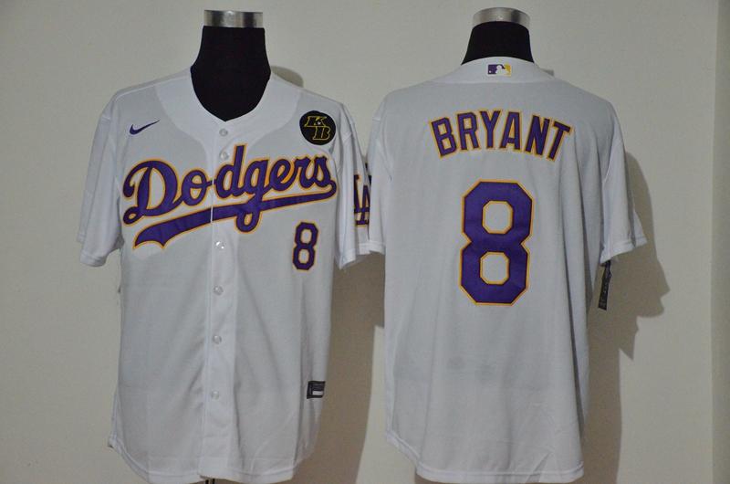 Dodgers 8 Kobe Bryant White 2020 Nike KB Cool Base Jersey