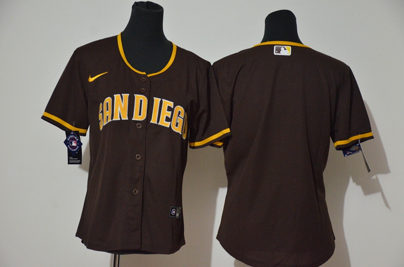 Padres Blank White Brown Cool Base Jerseys