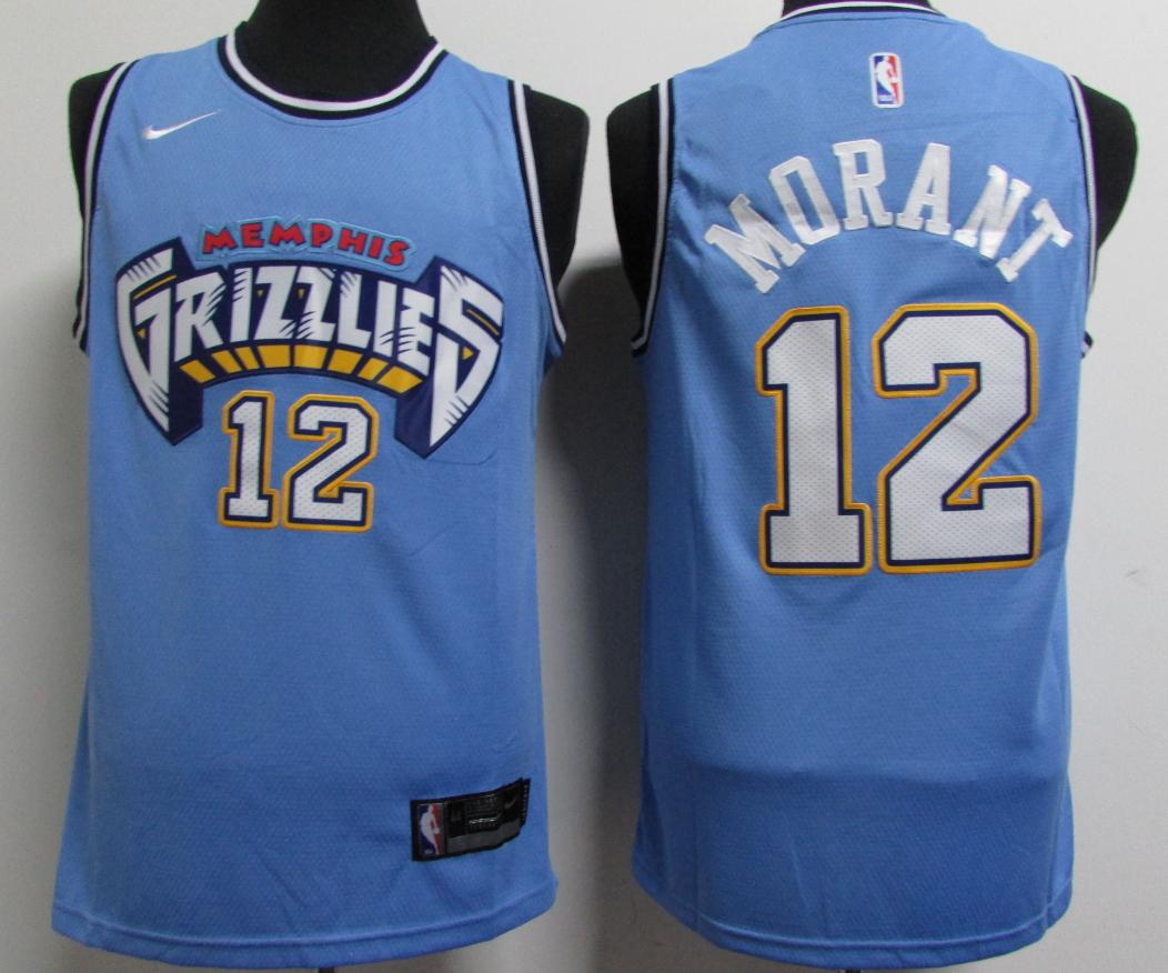Grizzlies 12 Ja Morant Blue City Edition Nike Swingman Jersey