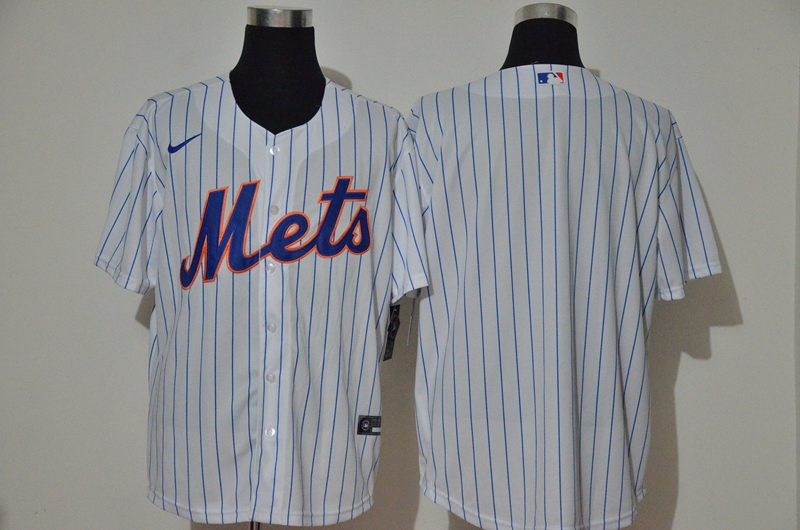 Mets Blank White Nike 2020 Cool Base Jersey