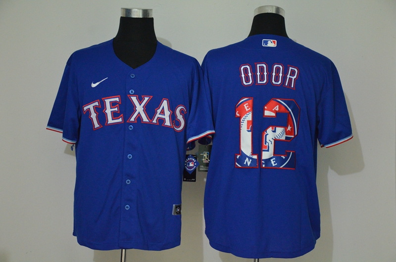 Rangers 12 Rougned Odor Royal 2020 Nike Cool Base Fashion Jersey