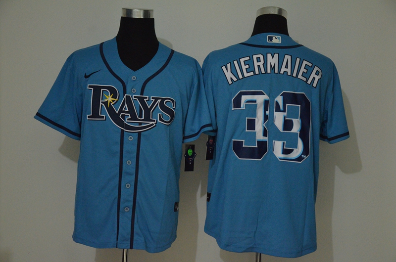 Rays 39 Kevin Kiermaier Light Blue 2020 Nike Cool Base Fashion Jersey