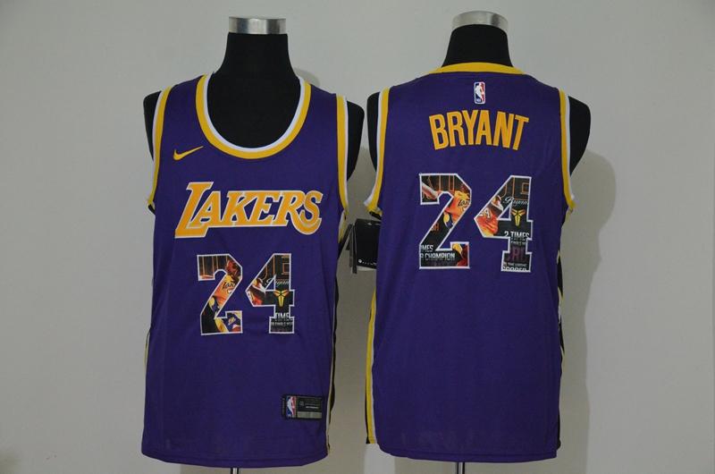 Lakers 24 Kobe Bryant Purple Fashion Swingman Jersey