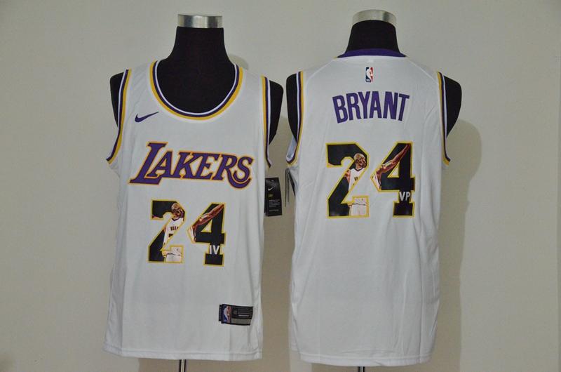 Lakers 24 Kobe Bryant White Fashion Swingman Jersey