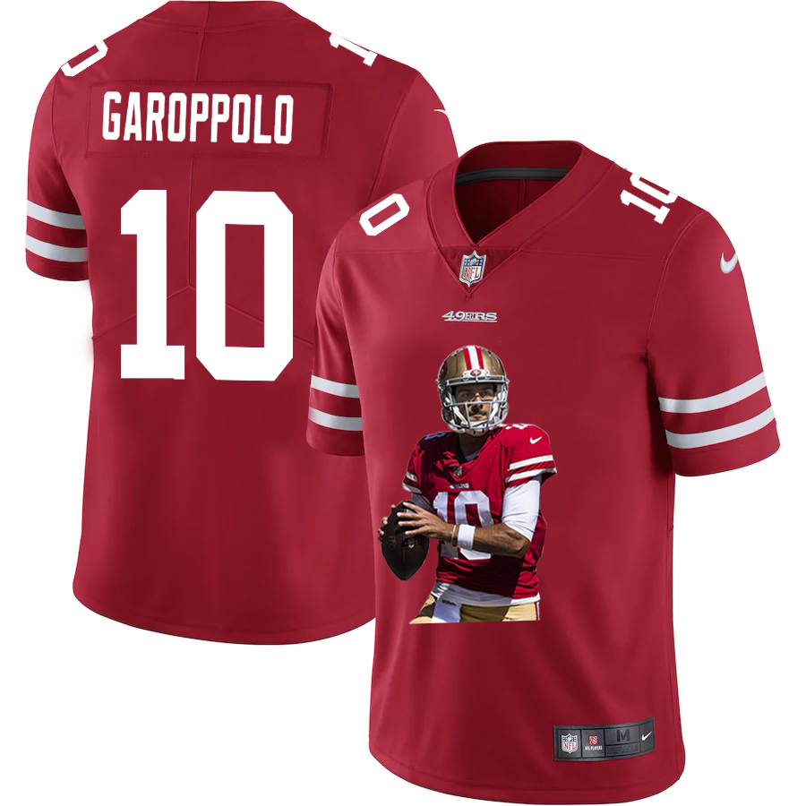 Nike 49ers 10 Jimmy Garoppolo Red Player Name Logo Vapor Untouchable Limited Jersey