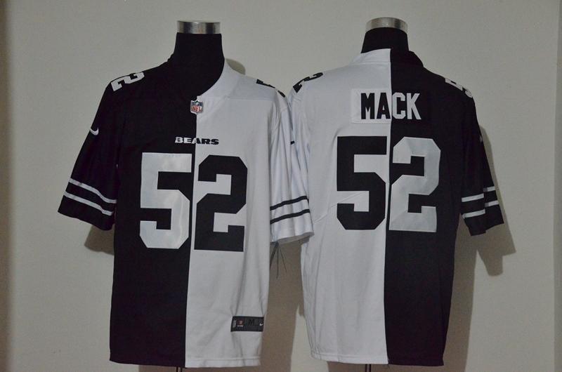 Nike Bears 52 Khalil Mack Black And White Split Vapor Untouchable Limited Jersey