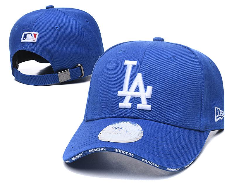 Dodgers Team Logo Royal Peaked Adjustable Hat TX