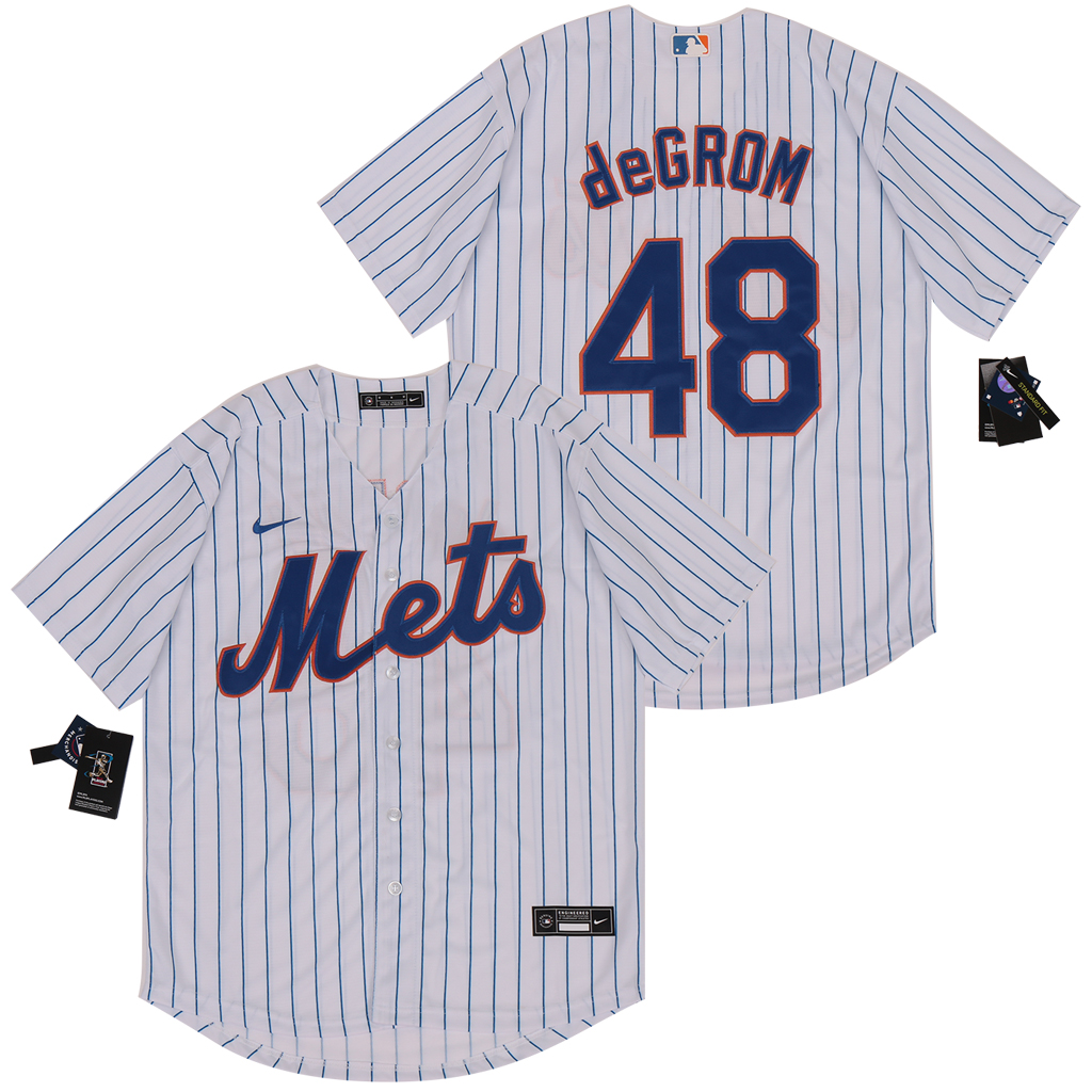 Mets 48 Jacob deGrom White 2020 Nike Cool Base Jersey