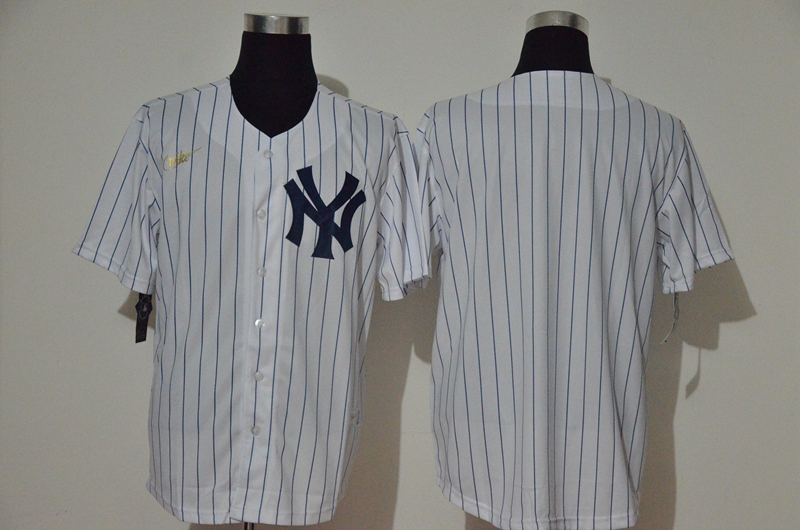 Yankees Blank White Nike Cool Base Jersey