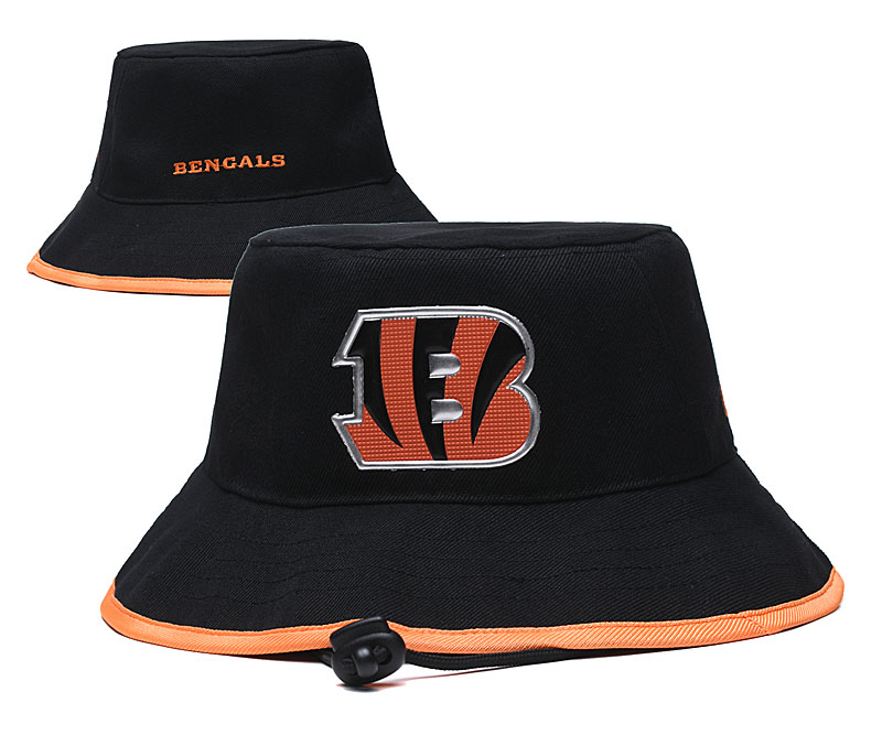 Bengals Team Logo Black Wide Brim Hat YD