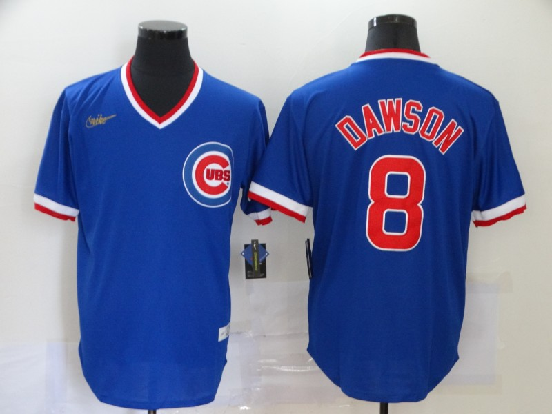 Cubs 8 Andre Dawson Royal Nike Throwback Jersey