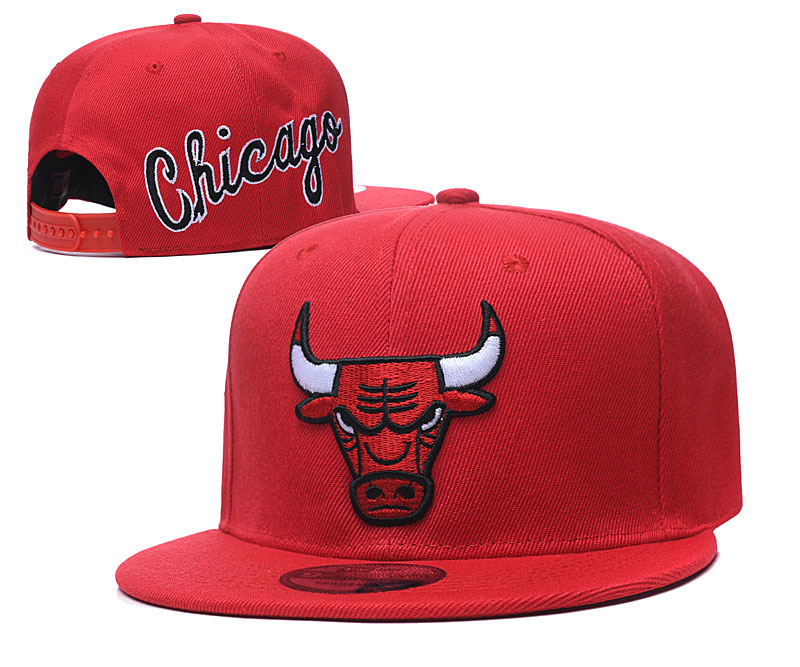 Bulls Fresh Logo Red Adjustable Hat GS