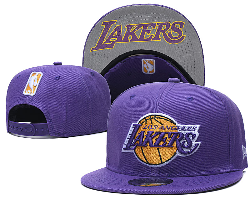 Lakers Team Logo Purple Adjustable Hat GS