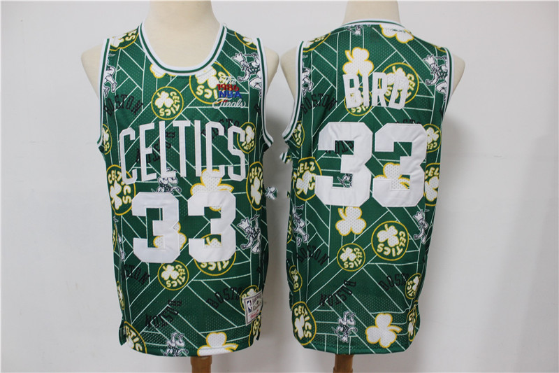 Celtics 33 Larry Bird Green Tear Up Pack Hardwood Classics Swingman Jersey