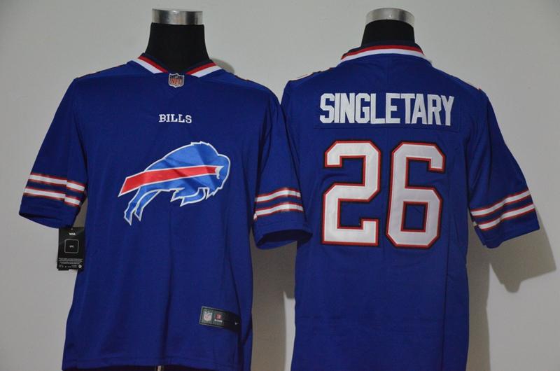 Nike Bills 26 Devin Singletary Royal Team Big Logo Vapor Untouchable Limited Jersey
