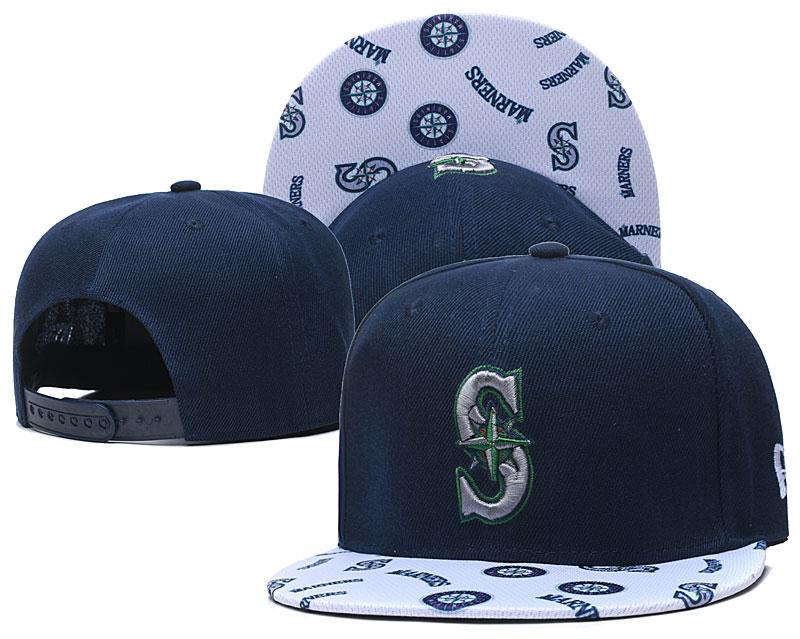 Mariners Team Logo Navy White Adjustable Hat TX
